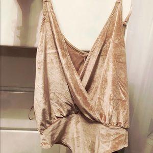 Tops - Velvet bodysuit